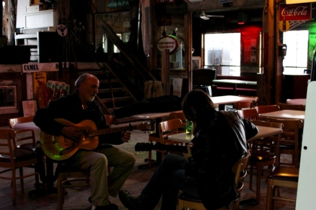 Jamming inside the Chapel out at Shack Up Inn, photo - Brad Hardisty