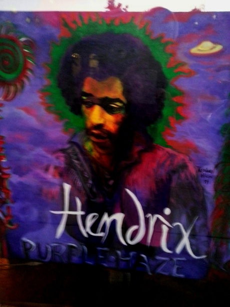 Hendrix by Rosalind Wilcox at Sun House, Clarksdale, MS, photo - Brad Hardisty