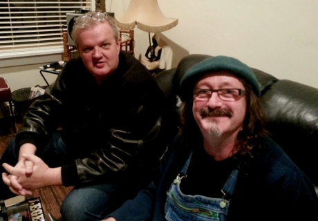 Brad catching up with Adrian Kosky five years later in Clarksdale, 12/12/2012