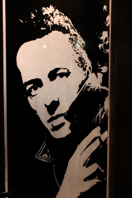 The High Watt, Joe Strummer on Mens Room Door, photo - Brad Hardisty