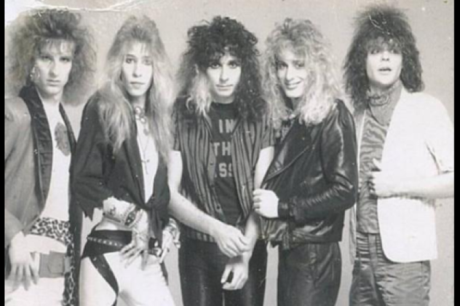Megattack press shot - 1986, Bryan Sorenson, Jay Gough, Rick Jackson, Parrish Hultquist, Pat Carter, courtesy - Megattack