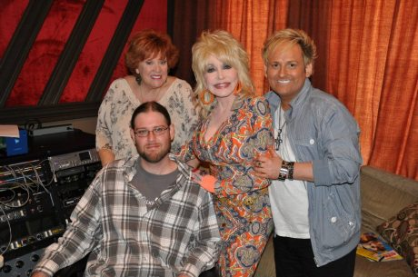 LuLu Roman and Dolly Parton in the studio.