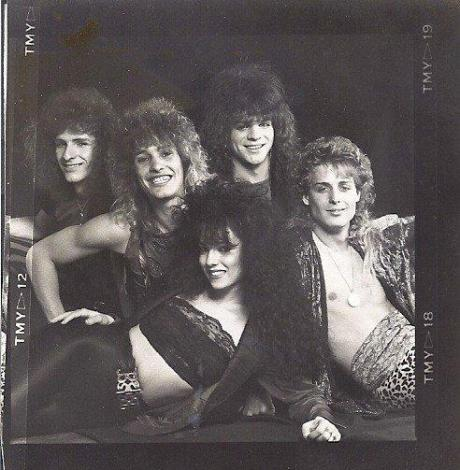Megattack 1988 lineup with lead singer Kristina Bell