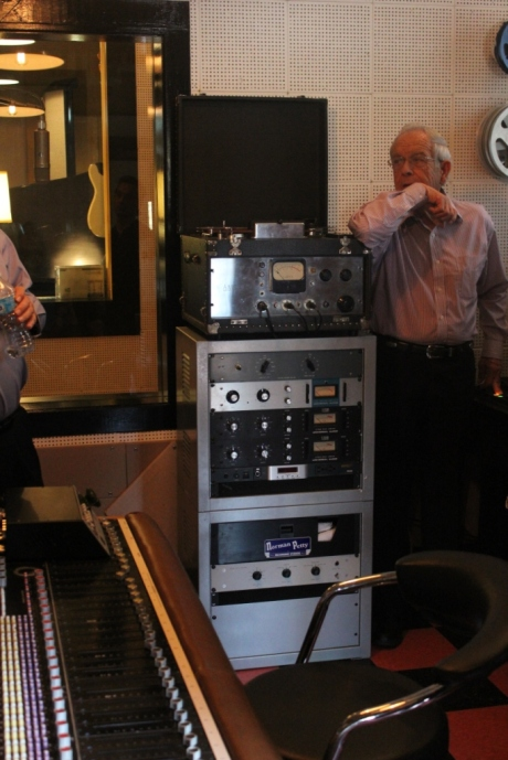 Ken Broad next to original Norman Petty Ampex 401 now in Nashville, TN, photo - Brad Hardisty