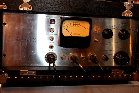 Original Ampex 401 used for early Buddy Holly material restored at Norman Petty Studio, Nashville, TN pphoto - Brad Hardisty