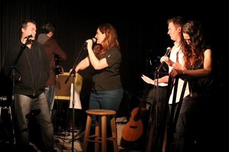 John Willis and Shantell Ogden answer questions, Douglas Corner Cafe, 11/16/2013, photo - Brad Hardisty