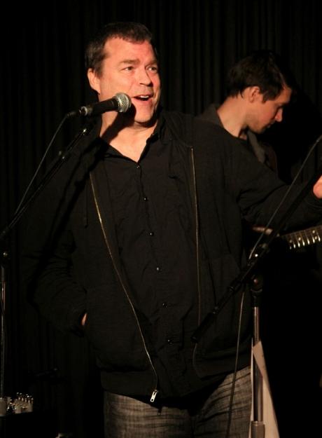 John Willis, Musician & Producer, at The Next Door Benefit, Douglas Corner Cafe, 11/16/2013, photo - Brad Hardisty