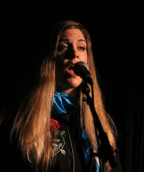 Anne Marie Neff performing with Shantell Ogden, Douglas Corner Cafe, 11/16/2013, photo - Brad Hardisty