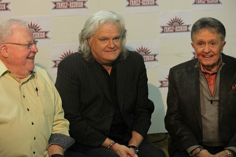 Larry Black, Ricky Skaggs & Bill Anderson at Simply Bluegrass taping, photo - Brad Hardisty