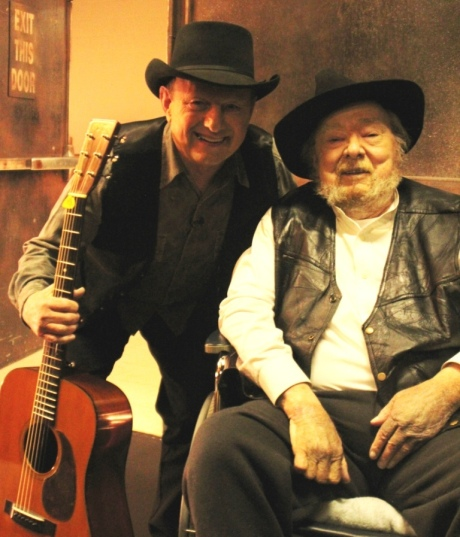 Reno and Mac Wiseman at Simply Bluegrass, photo courtesy Gabriel Communications