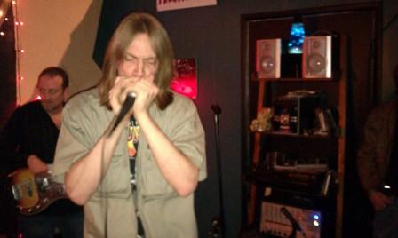 Tristan Dunn, jamming with The Tim Boykin Blues Band, Birmingham, AL, photo - Brad Hardisty