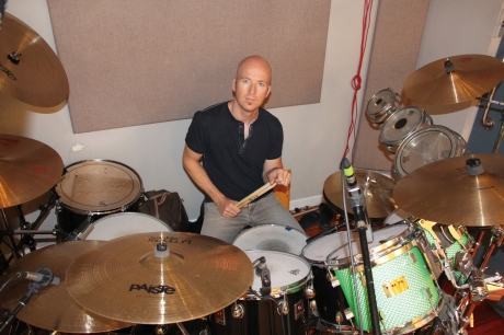 Dick Fliszar, Drums, Perfect Beings in session. Photo courtesy Perfect Beings.