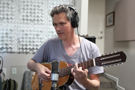 Johannes Luley during recording session. Photo courtesy Perfect Beings.