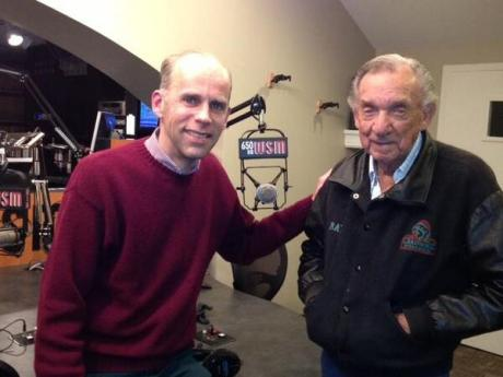 Eddie Stubbs and Ray Price at WSM, twitter photo